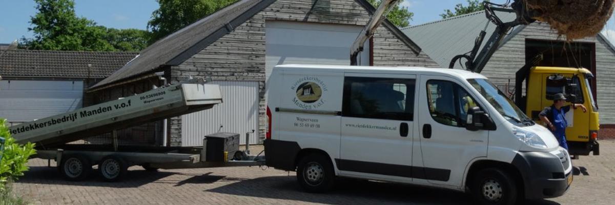Rietdekkersbedrijf in Drenthe